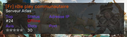[Fr] rôle play communautaire  - Serveur Atlas