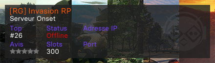 [RG] Invasion RP  - Serveur Onset