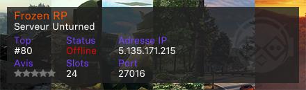 Frozen RP - Serveur Unturned