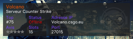 Volcano - Serveur Counter Strike