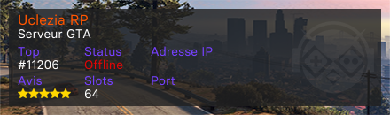 Uclezia RP - Serveur Grand Theft Auto