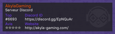 AkylaGaming - Serveur Discord