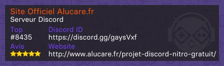 Site Officiel Alucare.fr - Serveur Discord