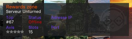 Rewards zone - Serveur Unturned