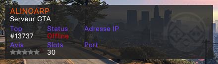 ALINOARP  - Serveur GTA