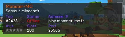 Monster-MC - Serveur Minecraft