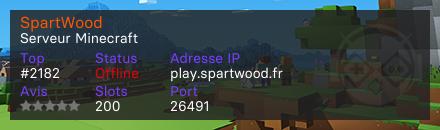 SpartWood - Serveur Minecraft