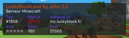 LuckyBlockLand by John 2.0 - Serveur Minecraft